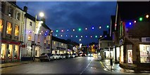 SK8608 : Christmas lights on Oakham High Street by Mat Fascione