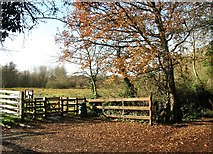 TG2105 : Entrance gate into Marston Marsh by Evelyn Simak