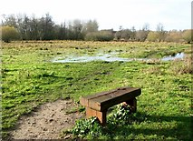 TG2105 : Seat on Marston Marsh by Evelyn Simak