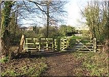 TG2105 : Gates to Marston Lane by Evelyn Simak