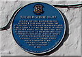 SS9668 : Old White Hart blue plaque, Llantwit Major by Jaggery