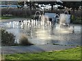 NZ3566 : Water feature at Harton Quay by Oliver Dixon