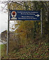 SO0528 : Brecon Beacons National Park Authority offices direction sign, Brecon by Jaggery