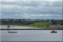 NZ3668 : Lifeboat and Yacht by DS Pugh