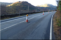 NS1489 : The A815 road at Loch Eck by Thomas Nugent