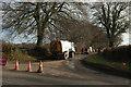 ST0130 : Road closed at Sperry Cross by Derek Harper