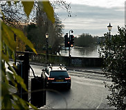 SU7682 : The western end of Henley Bridge and the River Thames by Roger A Smith