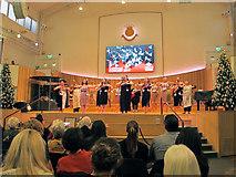 TQ2881 : London Maori Club Christmas Concert in Salvation Army Hall by David Hawgood