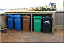 NT4899 : Recycling Bins, Elie and Earlsferry by Bill Kasman