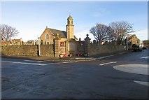 NO4900 : War Memorial and church by Bill Kasman