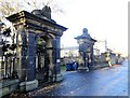 NZ2560 : Gates to Heathfield House, Gateshead by Robert Graham