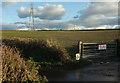 SS4928 : Field by Horwood Cross by Derek Harper