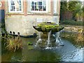 SK6464 : Rufford Abbey – fountain at the orangery by Alan Murray-Rust