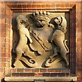 SK6464 : Rufford Abbey – coat of arms, former stable block by Alan Murray-Rust