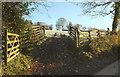 SS9425 : Field entrance near Willishayes Cross by Derek Harper
