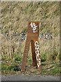 TQ5379 : Marker, Rainham Marshes RSPB reserve by Robin Webster