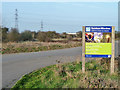 TQ5479 : Sign by road to RSPB Rainham Marshes by Robin Webster