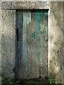 NY9442 : Stotfield Burn farm buildings - door by Mike Quinn