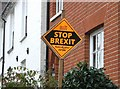 "TM3698 : General election ""Stop Brexit"" poster on High Street by Evelyn Simak"