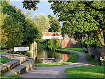 SJ8934 : Trent and Mersey Canal in Stone, Staffordshire by Roger  Kidd