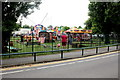 TQ4775 : Fairground in Danson Park by Nigel Mykura