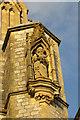 SX9165 : Statue in niche, St Mary's church by Derek Harper