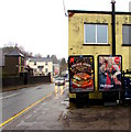 SO2603 : Global adverts, Snatchwood Road, Abersychan by Jaggery
