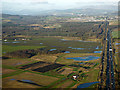 NS4566 : Farmland near Glasgow Airport from the air by Thomas Nugent