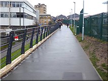 SE5952 : Upgraded path from Scarborough Bridge by Oliver Dixon