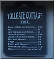 TQ9221 : Tollgate Cottage on Military Road by Ian S
