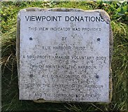 NT4999 : Plate asking for donations, Elie Harbour viewpoint by Bill Kasman