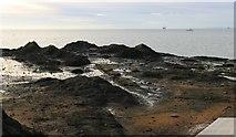 NT4999 : Remains of Apple Rock Pier, Elie by Bill Kasman