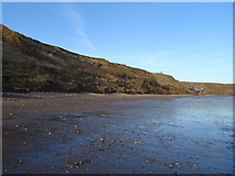 TA1281 : Beach and soft cliffs near Coble Landing, Filey by JThomas