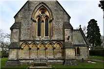 TQ1450 : Ranmore Common, St. Barnabas Church: Blind arcading on the west wall 1 by Michael Garlick