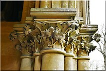 TQ1450 : Ranmore Common, St. Barnabas Church: South porch right capital 2 by Michael Garlick