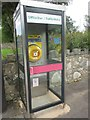 SH5766 : Defibrillator housed in former telephone kiosk, Pentir by Meirion