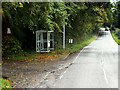 NS2409 : Bus Stop on the A719 Outside Culzean Country Park by David Dixon