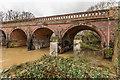 TQ1656 : Bridge over the River Mole - in flood by Ian Capper