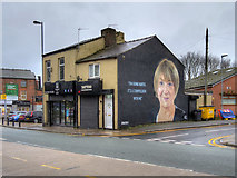 SD8203 : Victoria Wood Mural in Prestwich by David Dixon