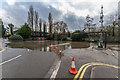 TQ1556 : Car park under water by Ian Capper