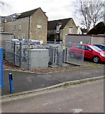 SP0202 : Barton Lane electricity substation, Cirencester by Jaggery