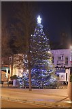TL0221 : Christmas tree on High Street, Dunstable by David Howard