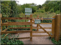 SU4828 : Kissing gate at entrance to St Catherine's Hill Nature Reserve by Phil Champion
