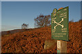 SK2573 : Peak & Northern Footpaths Society Sign No.311 at Curbar, Derbyshire by Andrew Tryon