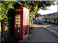 SO2914 : Grade II Listed red phonebox on an  Abergavenny corner by Jaggery