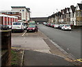 ST3089 : Contrasting sides of Old Malpas Road, Newport by Jaggery