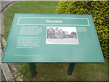 SP8633 : Information Board near the Mansion at Bletchley Park by David Hillas
