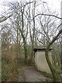 ST3410 : The eco-toilet (composting toilet) by Chard Reservoir by David Smith