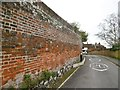 SU4829 : Winchester, garden wall by Mike Faherty