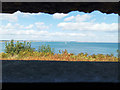 SZ0382 : View from observation slit at Fort Henry, Studland by Phil Champion